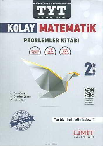 Limit Yayınları TYT Kolay Matematik Problemler Kitabı Konu Anlatımlı S