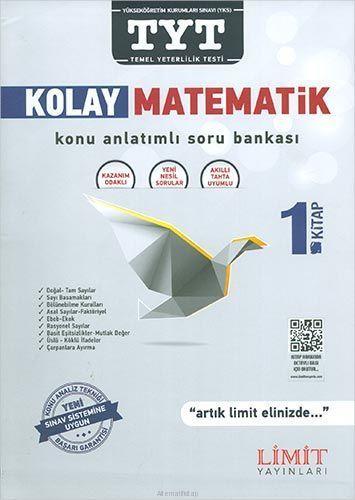 Limit Yayınları TYT Kolay Matematik Kitabı Konu Anlatımlı Soru Bankası 1. Kitap