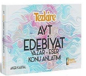 İsem AYT Tezkire Edebiyat Yazar Eser Konu Anlatımı %40 indirimli Aker