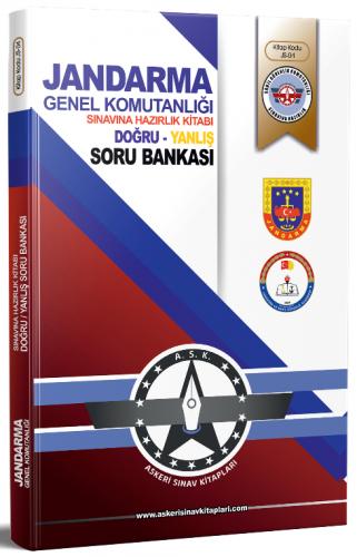 Dizgi Kitap Jandarma Genel Komutanlığı Sınavı Doğru-Yanlış Soru Bankas