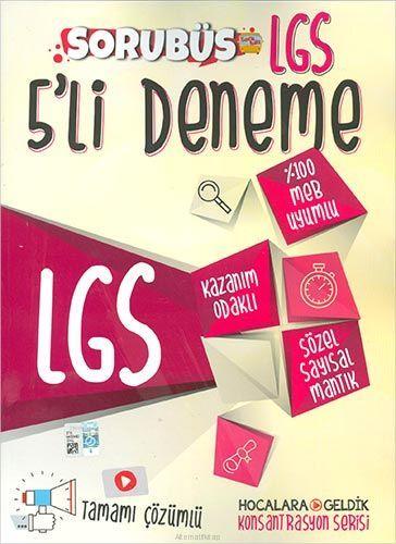 Hocalara Geldik LGS Konsantrasyon Denemeleri Sorubüs Çözümlü 5li Deneme