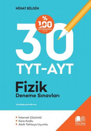 Nihat Bilgin Yayınları TYT AYT Fizik 30 Deneme