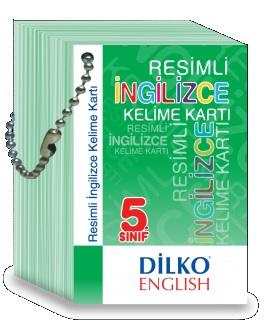 Dilko Yayınları 5. Sınıf Resimli İngilizce Kelime Kartı %30 indirimli