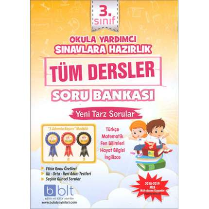 Bulut 3.Sınıf Okula Yardımcı Tüm Dersler Soru Bankası