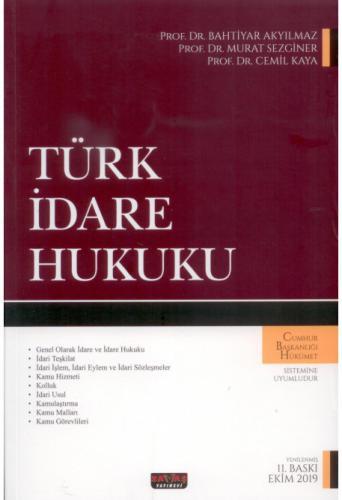 Türk İdare Hukuku Bahtiyar Akyılmaz %10 indirimli Bahtiyar Akyılmaz