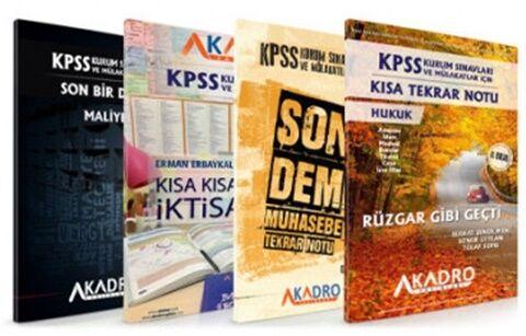 A Kadro Yayınları 2021 KPSS A Grubu ve Kurum Sınavları Son Tekrar Notl