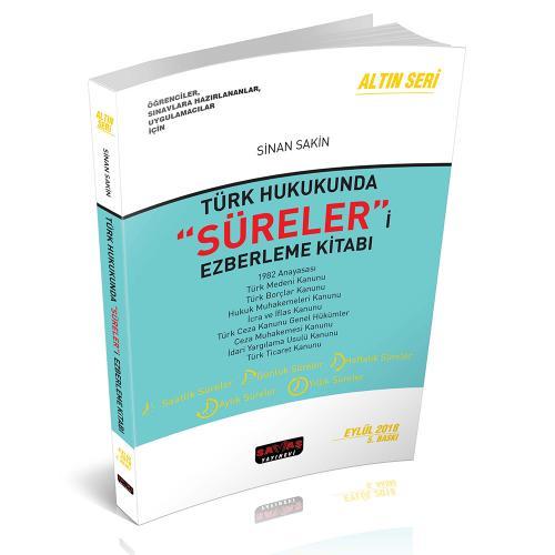 Savaş Türk Hukukunda Süreleri Ezberleme Kitabı