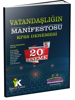 İnformal KPSS Vatandaşlığın Manifestosu 20 Çözümlü Deneme