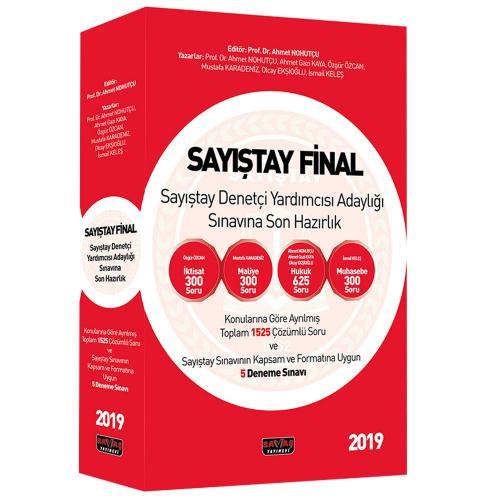 Sayıştay Final Sayıştay Denetçi Yardımcısı Adaylığı Sınavına Son Hazırlık Soru Bankası 2019
