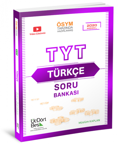 ÜçDörtBeş Yayınları TYT Türkçe Soru Bankası