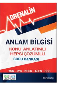Adrenalin Anlam Bilgisi Konu Anlatımlı Hepsi Çözümlü Soru Bankası - Tayfur Altun