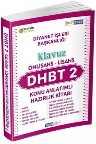 Ahsen Kitap 2020 DHBT 2 Önlisans Lisans Kılavuz Konu Anlatımlı Hazırlık Kitabı