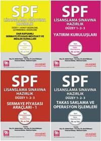 Akademi SPF Lisanslama Sınavlarına Hazırlık Düzey 1 Tüm Konular Seti (4 kitap)