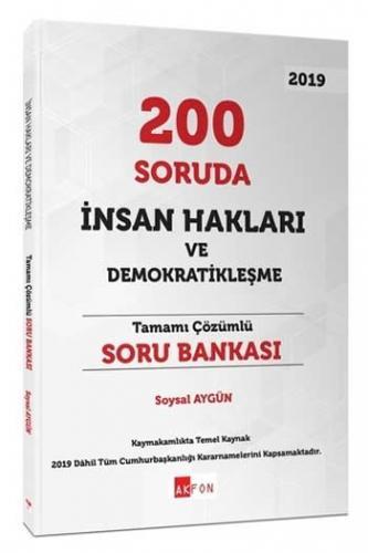 Akfon Yayınları 200 Soruda İnsan Hakları ve Demokratikleşme Tamamı Çözümlü Soru Bankası