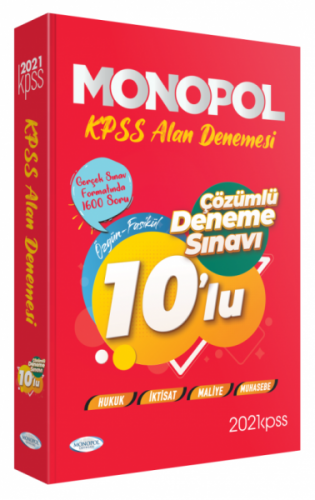 Monopol Yayınları 2021 KPSS A Grubu 10 Deneme Çözümlü Komisyon