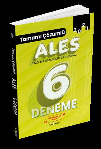 Tercih Akademi 2021 ALES Tamamı Çözümlü 6 Deneme Komisyon