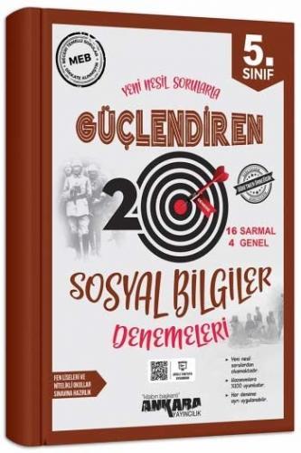 Ankara Yayıncılık 5. Sınıf Sosyal Bilgiler Güçlendiren 20 Deneme