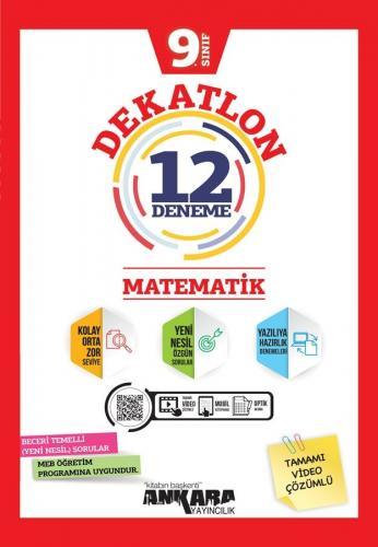 Ankara Yayıncılık 9. Sınıf Matematik Dekatlon 12 Denemeleri Komisyon