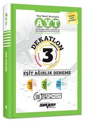 Ankara Yayıncılık AYT Eşit Ağırlık Dekatlon 3 Deneme Komisyon