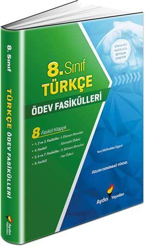 Aydın Yayınları 8. Sınıf Türkçe Ödev Fasikülleri