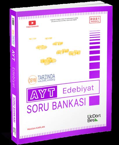 ÜçDörtBeş Yayınları 2021 AYT Edebiyat Soru Bankası Müslüm Kaplan