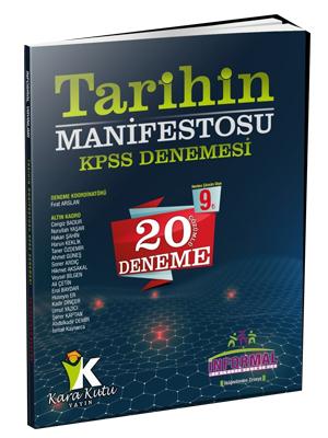 İnformal KPSS Tarihin Manifestosu 20 Çözümlü Deneme %0 indirimli