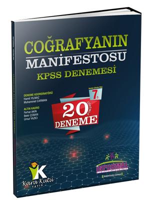 İnformal KPSS Coğrafyanın Manifestosu 20 Çözümlü Deneme