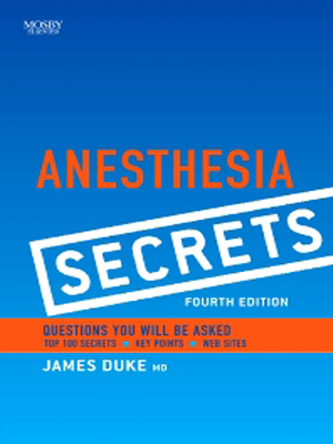 Elsevier Anesthesia Secrets