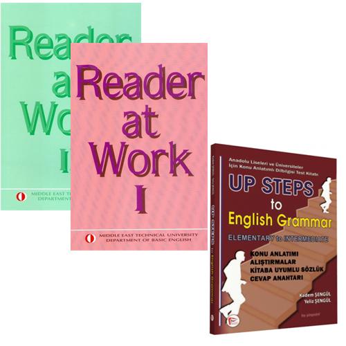 Reader at Work 1-2 Takım - Up Steps To English Grammar Hediyeli
