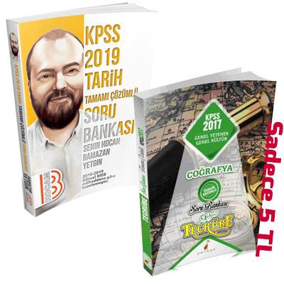 SÜPER FİYAT Benim Hocam KPSS Tarih Soru Bankası + Tecrübe KPSS Coğrafya Soru Bankası Seti