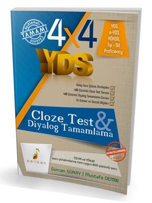 Pelikan 4x4 YDS Seti 3. Kitap Cloze Test, Diyalog Tamamlama %45 indiri
