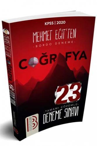 Benim Hocam Yayınları 2020 KPSS Coğrafya Tamamı Çözümlü 23 Deneme Sınavı