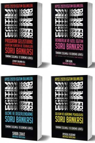 Benim Hocam Yayınları 4 lü SET 2020 KPSS Eğitim Bilimleri Tüm Dersler Soru Bankası Seti