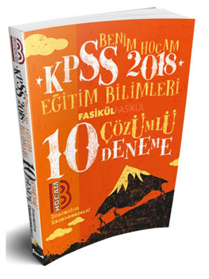 Benim Hocam KPSS Eğitim Bilimleri Tamamı Çözümlü 10 Deneme 2018