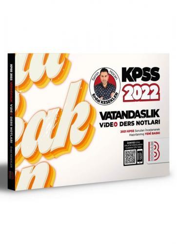Benim Hocam Yayınları 2022 KPSS Vatandaşlık Video Ders Notları Erdal K