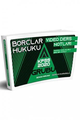 Benim Hocam Yayınları KPSS A Grubu Borçlar Hukuku Video Ders Notları