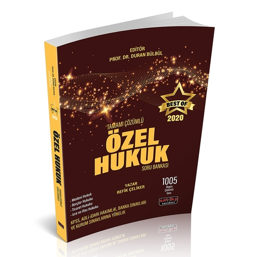BEST OF Özel Hukuk Soru Bankası Tamamı Çözümlü Duran Bülbül
