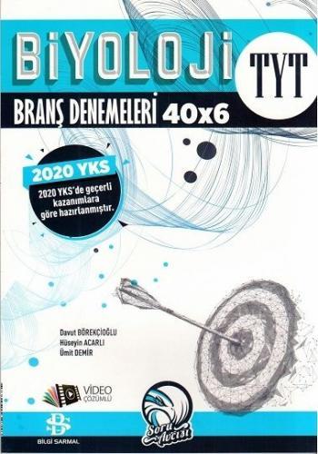 Bilgi Sarmal Yayınları TYT Biyoloji 40 x 6 Denemeleri