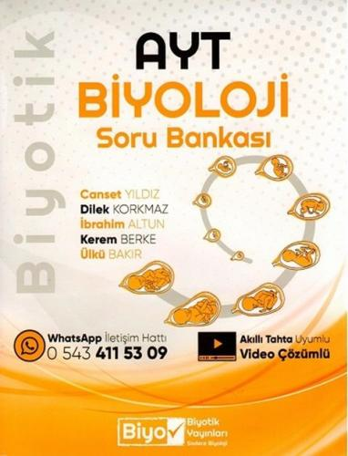 Biyotik Yayınları AYT Biyoloji Soru Bankası