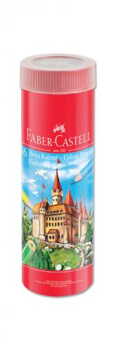 Faber-Castell Kuru Boya Red Line Metal Tüp Kutu Tam Boy 36 Renk Kalemtraş Hediyeli