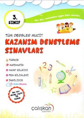 Çalışkan Yayınları 3. Sınıf Tüm Dersler Mucit Kazanım Denetleme Sınavları