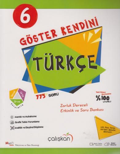 Çalışkan Yayınları 6. Sınıf Türkçe Göster Kendini Soru Bankası Komisyo