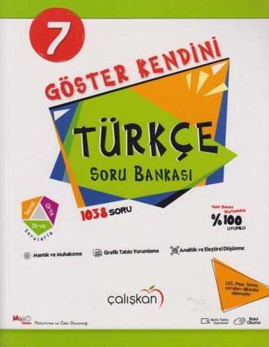 Çalışkan Yayınları 7. Sınıf Türkçe Göster Kendini Soru Bankası Komisyo