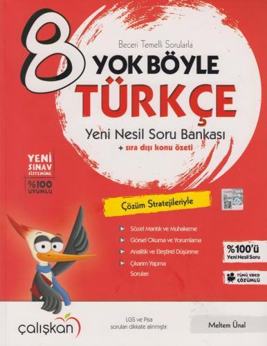 Çalışkan Yayınları 8. Sınıf Türkçe Yok Böyle Soru Bankası