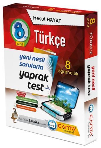 Çanta Yayınları 8. Sınıf Türkçe 8 Öğrencilik Kutu Yaprak Test