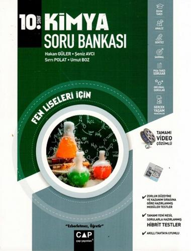 Çap Yayınları 10. Sınıf Fen Lisesi Kimya Soru Bankası