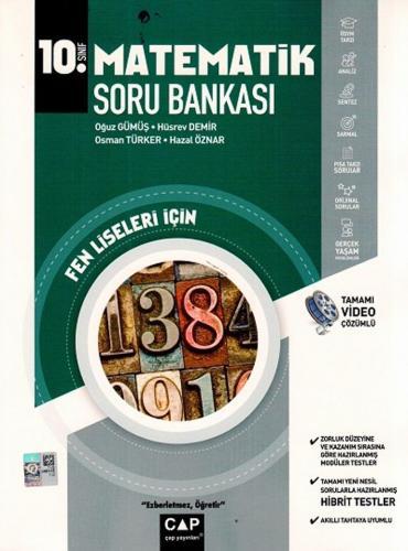 Çap Yayınları 10. Sınıf Matematik Fen Lisesi Soru Bankası