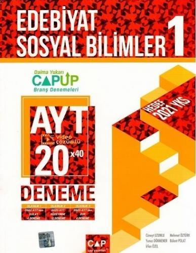 Çap Yayınları AYT Edebiyat Sosyal Bilimler 1 Up 20 x 40 Deneme Komisyo