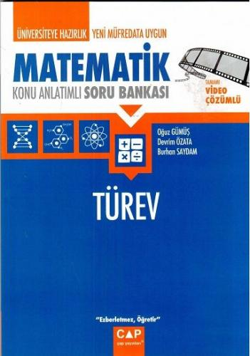 Çap Üniversiteye Hazırlık Matematik Türev Konu Anlatımlı Soru Bankası