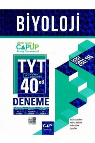 Çap Yayınları TYT Biyoloji 40x6 Video Çözümlü Deneme Komisyon